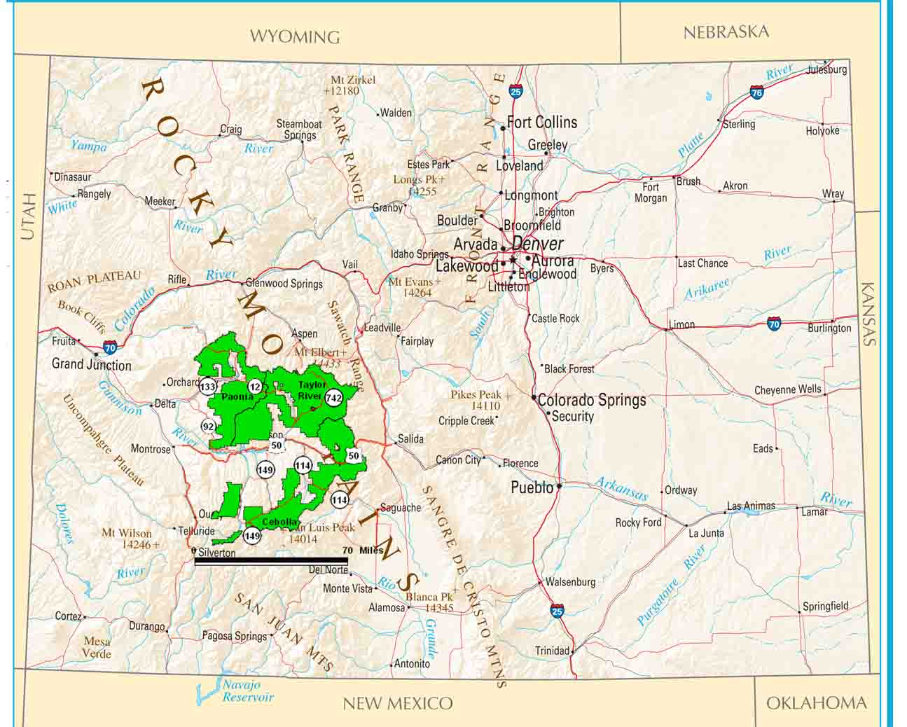 Gunnison Co Mountain Map Pictures To Pin On Pinterest PinsDaddy - Map of colorado national forests