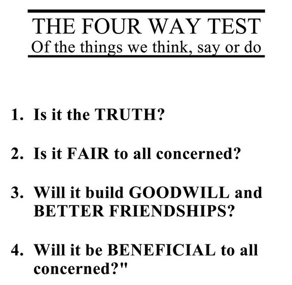 rotary four way test essay