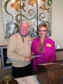 President Ken McIlvaine and Rotary District Rotary 7640 Membership Chairman Cathy Gavin
