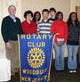 The Woodbury Junior-Senior High School Interact Club Sponsored by Woodbury Rotary Club From left to right - President Don Smith, Interact Advisor, Maria Lario, Lara Hassan, Jasmine Ehirim, David Carl, , Sara Hassan, Julio Interiano